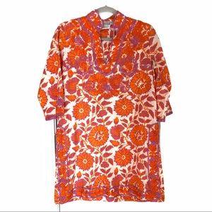 Gretchen Scott Designs Orange Embroidered Tunic